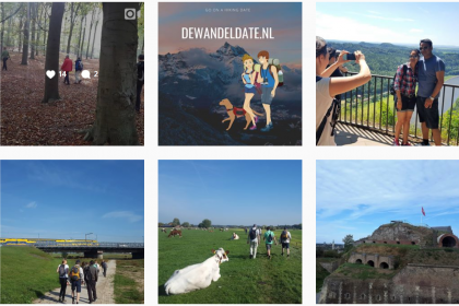 Volg DeWandeldate ook op Instagram! We delen Foto's en Video's over Wandeldates, Outdoor dates, Groepswandelingen, Succesverhalen, Wandelroutes, etc.